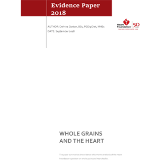 Whole grains and the heart evidence paper