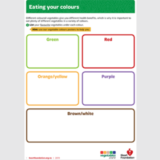 Eating your colours activity sheet