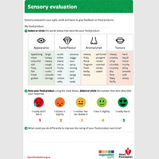Sensory evaluation teaching resource