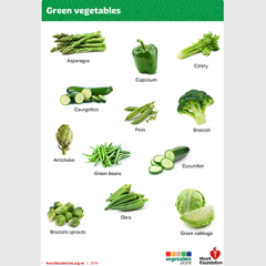 Vegetable colours teaching activity