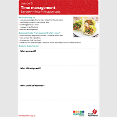 Time management evaluation teaching resource