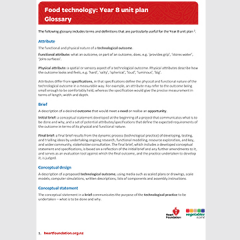 Food Technology glossary