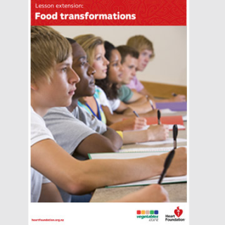Food transformations - Lesson plan teaching resource