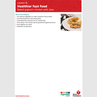 Healthier fast food lesson plan teaching resource