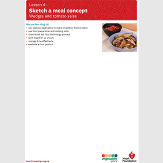 Sketch a meal concept lesson plan teaching resource