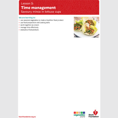 Time management lesson plan teaching resource