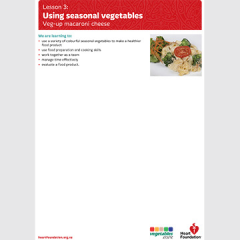 Using seasonal vegetables lesson plan teaching resource