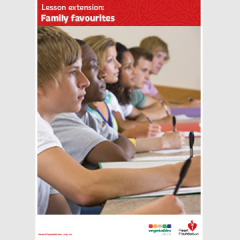 Family favourites lesson plan
