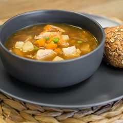 Chicken and vegetable soup recipe video teaching resource