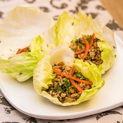 Mince in lettuce cups recipe video teaching resource