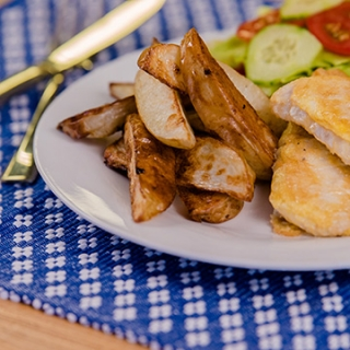 Potato wedges recipe video teaching resource