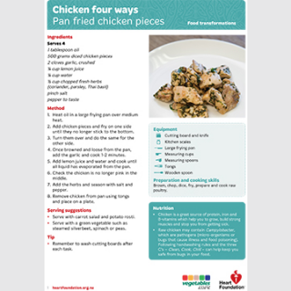 chicken 4 ways recipe teaching resource