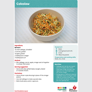 coleslaw recipe teaching resource