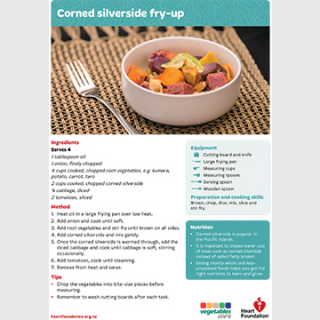 corned silverside  recipe teaching resource