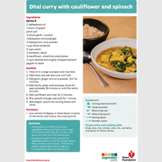 dhal curry recipe teaching resource