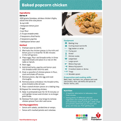 popcorn chicken recipe teaching resource