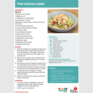 thai chicken salad recipe teaching resource