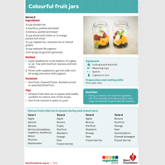 Colourful fruit jars recipe