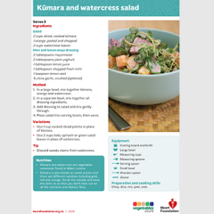 Kumara and watercress salad recipe