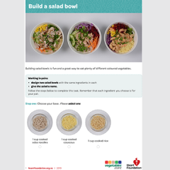 Build a salad bowl recipe