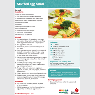 Stuffed egg salad recipe