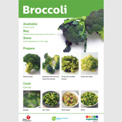 Broccoli skill card recipe teaching resource