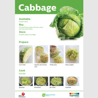 Cabbage skill card recipe teaching resource