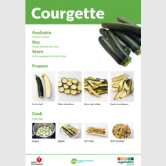 Courgette skill card recipe teaching resource