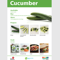 Preview of cucumber cooking skill card
