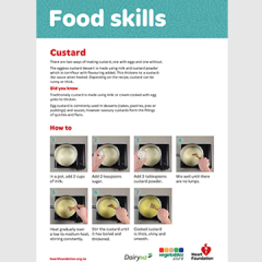 Custard skill card - how to make custard