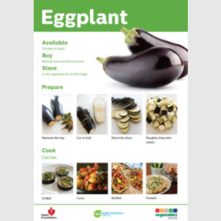 Eggplant skill card recipe teaching resource