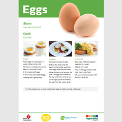 Eggs skill card recipe teaching resource