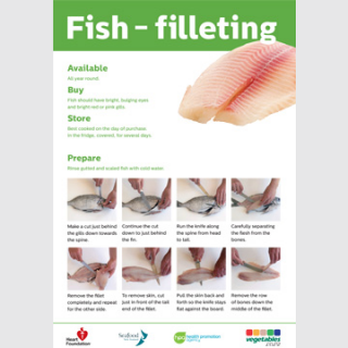 Fish fillet skill card recipe teaching resource