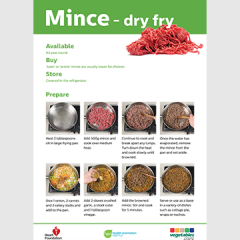 Dry fry mince skill card