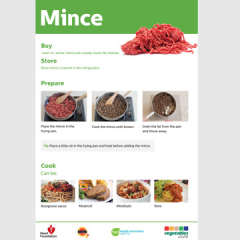 Mince skill card recipe teaching resource