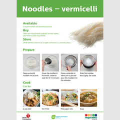 Vermicelli noodles skill card