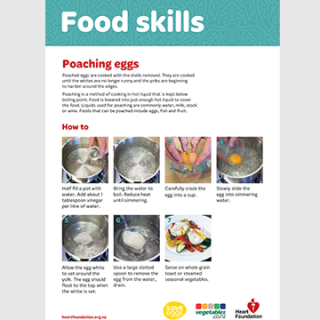 Learn how to poach an egg - step by step skill card