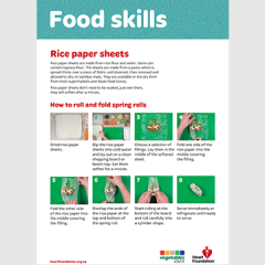 How to cook with rice paper sheets - rice sheets skill card