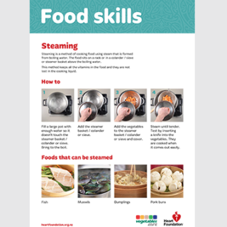 How to steam food - skill card