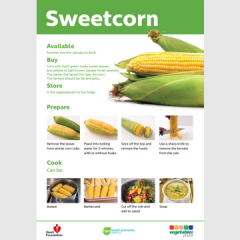 Sweetcorn skill card recipe teaching resource