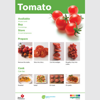 Tomato skill card recipe teaching resource