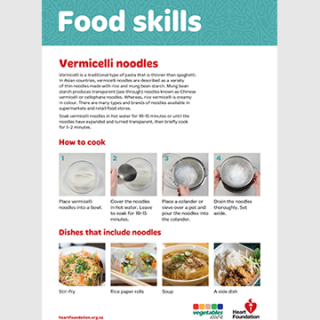 How to cook vermicelli noodles skill card