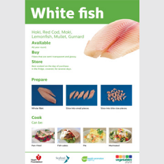 White fish skill card recipe teaching resource