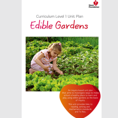 Edible gardens unit plan cover