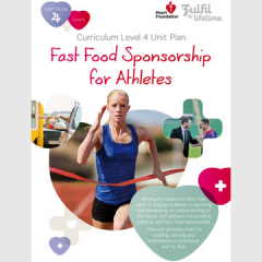 Fast food sponsorship for athletes unit plan cover