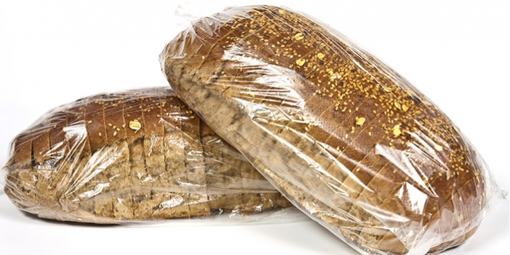 Bread sealed in plastic bags