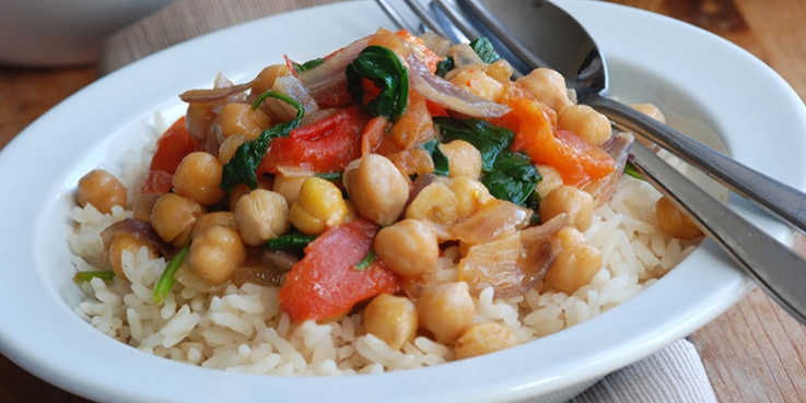 A healthy chickpea curry for winter