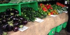 Buying seasonal fruit and vegetables at farmers markets can help save you money