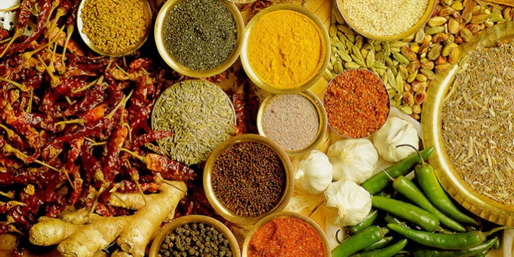 Spices instead of salt