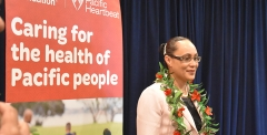 Associate Minister of Health Hon. Jenny Salesa at graduation of the AUT Certificate of Proficiency in Pacific Nutrition course.